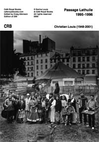 Christian Louis : passage Lathuile 1995-1996 (couverture)